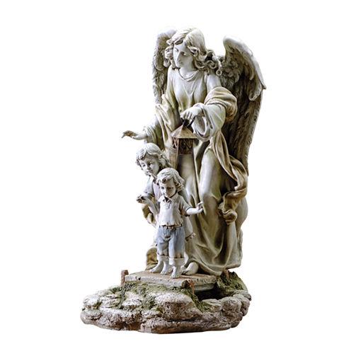 "20.5"" Solar Guardian Angel Outdoor Statue"