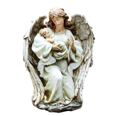 "17"" Angel with Baby Outdoor Statue"
