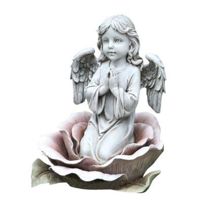"11"" Angel In The Rose Outdoor Statue"
