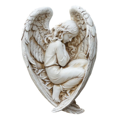 """12.25"""" Sleeping Angel  Outdoor Statue"""