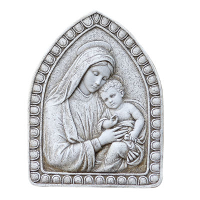 "16"" Madonna And Child Outdoor Plaque"