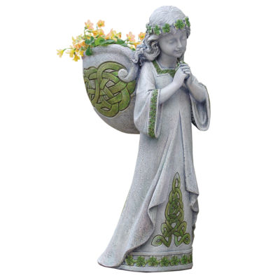 "15"" Irish Angel Outdoor Planter"
