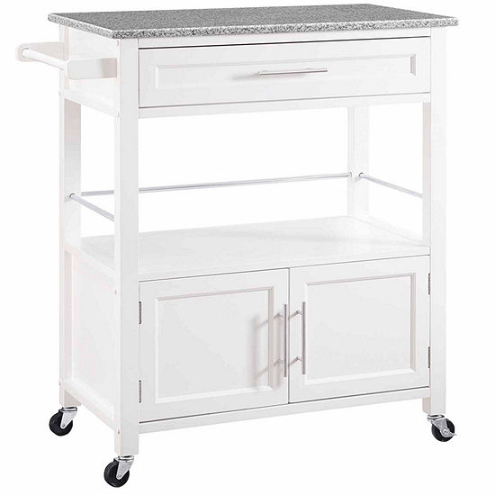 Linon Granite-Top Kitchen Cart