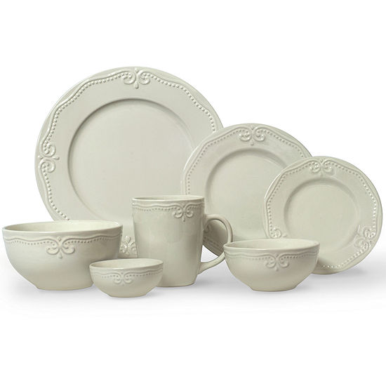 JCPenney Home™ Scroll 56-pc White Dinnerware Set