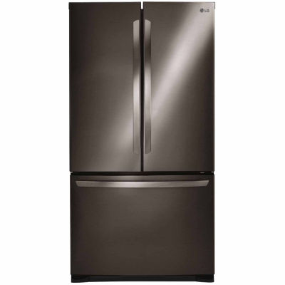 LG ENERGY STAR® 25.4 cu. ft. Ultra Large Capacity 3-Door French Door Refrigerator with Smart Cooling System