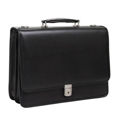 "McKleinUSA Lexington 15.6"" Leather Flapover Double Compartment Briefcase"