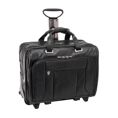 """McKleinUSA West Town 15.6"""" Leather Fly-Through Checkpoint-Friendly Detachable -Wheeled Laptop Briefcase"""
