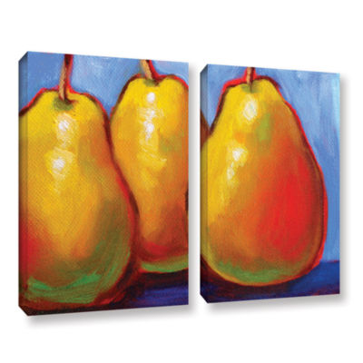 Brushstone Gang of Pears 2-pc. Gallery Wrapped Canvas Set