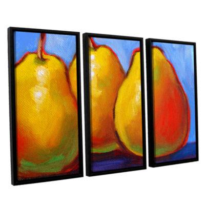 Brushstone Gang of Pears 3-pc. Floater Framed Canvas Set