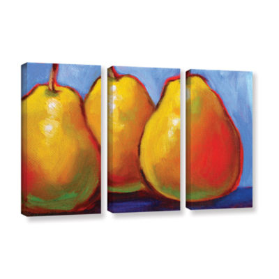 Brushstone Gang of Pears 3-pc. Gallery Wrapped Canvas Set