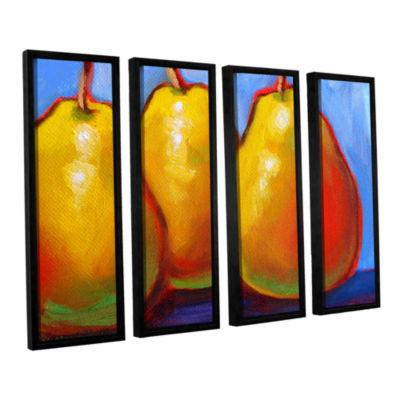 Brushstone Gang of Pears 4-pc. Floater Framed Canvas Set