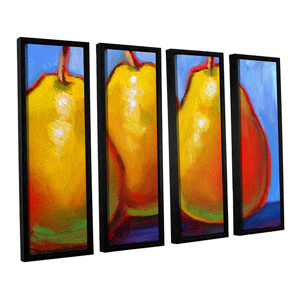 Brushstone Gang of Pears 4-pc. Floater Framed Canvas Set