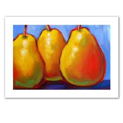 Brushstone Gang of Pears Canvas Wall Art