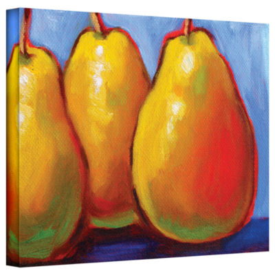 Brushstone Gang of Pears Gallery Wrapped Canvas