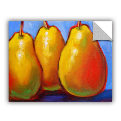 Brushstone Gang of Pears Removable Wall Decal