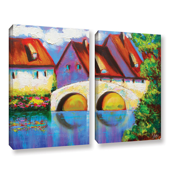 Brushstone German Village on Rhine 2-pc. Gallery Wrapped Canvas Set
