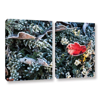 Brushstone Frosty Scene 2-pc. Gallery Wrapped Canvas Set