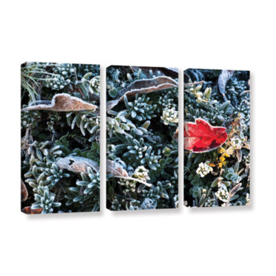 Brushstone Frosty Scene 3-pc. Gallery Wrapped Canvas Set