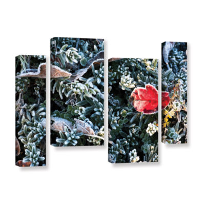 Brushstone Frosty Scene 4-pc. Gallery Wrapped Canvas Staggered Set