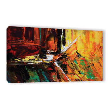 Brushstone Glitch Gallery Wrapped Canvas