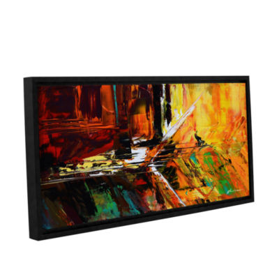 Brushstone Glitch Gallery Wrapped Floater-Framed Canvas