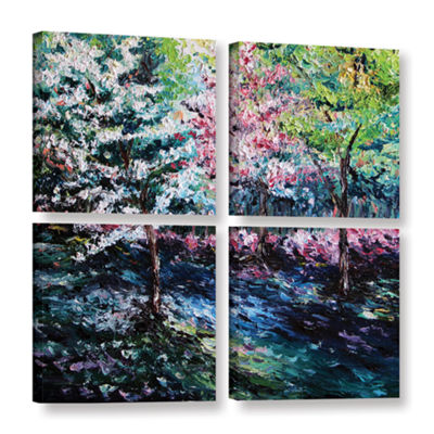 Brushstone From The Earth 4-pc. Gallery Wrapped Canvas Square Set