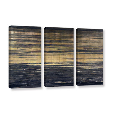 Brushstone Golden Sand 3-pc. Gallery Wrapped Canvas Set