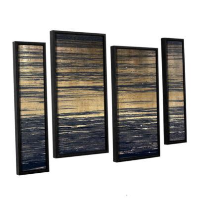 Brushstone Golden Sand 4-pc. Floater Framed CanvasStaggered Set