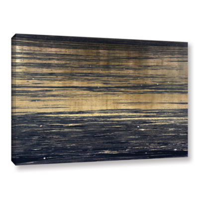 Brushstone Golden Sand Gallery Wrapped Canvas