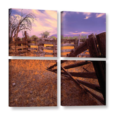 Brushstone ghost ranch 4-pc. Gallery Wrapped Canvas Square Set