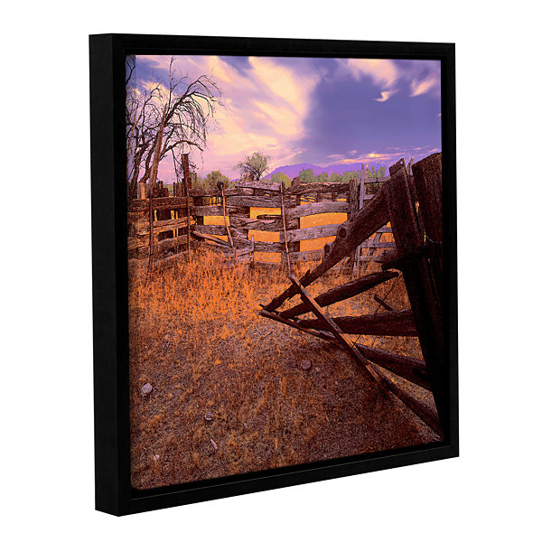 Brushstone ghost ranch Gallery Wrapped Floater-Framed Canvas