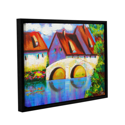 Brushstone German Village on Rhine Gallery WrappedFloater-Framed Canvas