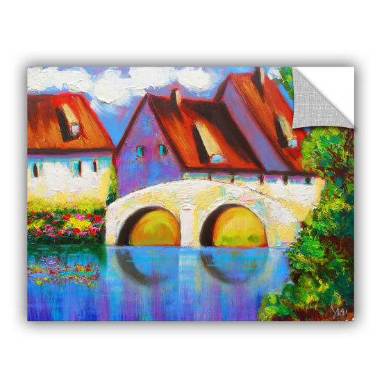 Brushstone German Village on Rhine Removable WallDecal
