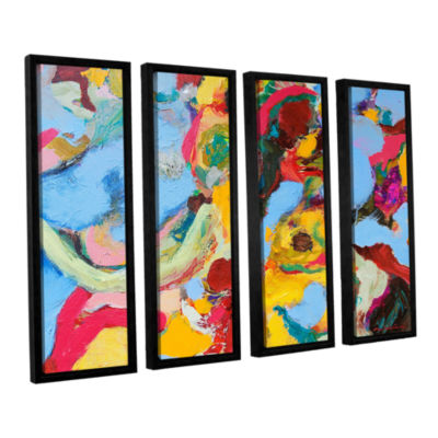 Brushstone Gathering Season 4-pc. Floater Framed Canvas Set