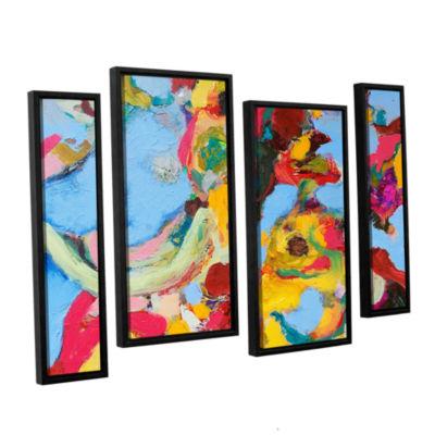 Brushstone Gathering Season 4-pc. Floater Framed Canvas Staggered Set