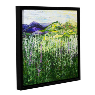 Brushstone Gentle Shadows Gallery Wrapped Floater-Framed Canvas