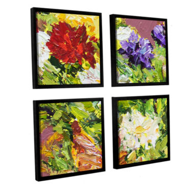 Brushstone Giving Love 2 4-pc. Floater Framed Canvas Sqare Set
