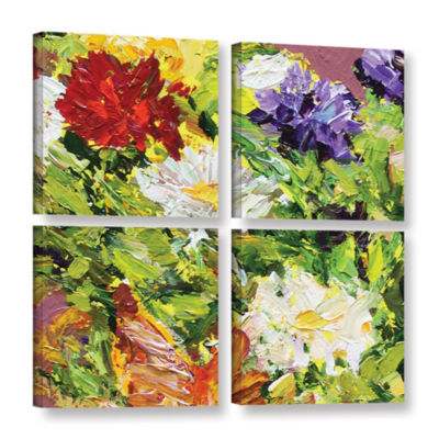 Brushstone Giving Love 2 4-pc. Gallery Wrapped Canvas Square Set