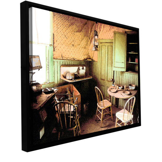 Brushstone Ghost Kitchen Gallery Wrapped Floater-Framed Canvas