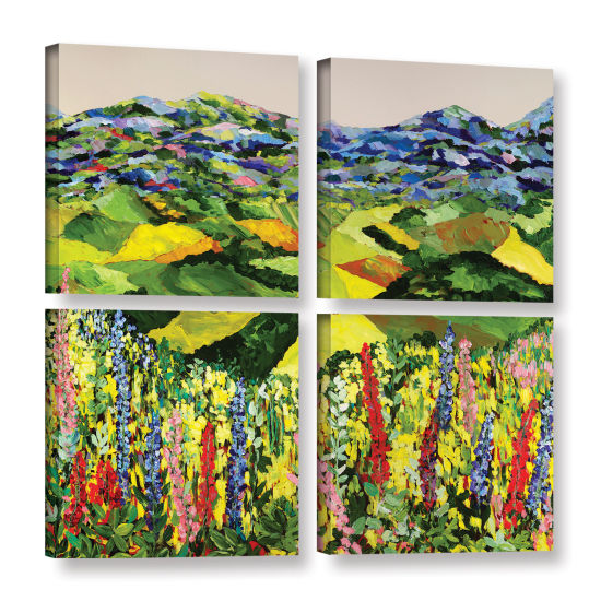 Brushstone Going Wild 4-pc. Gallery Wrapped CanvasSquare Set