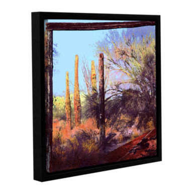 Brushstone Ghost Ranch 2 Gallery Wrapped Floater-Framed Canvas
