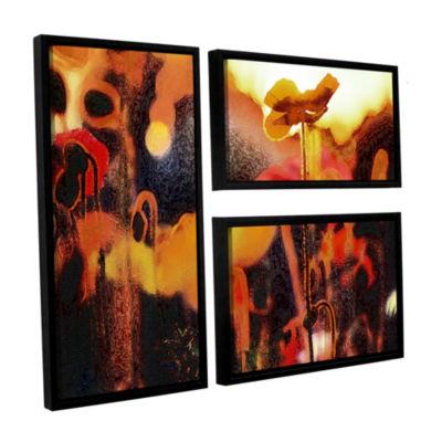 Brushstone Garden Enchanted 3-pc. Floater Framed Canvas Flag Set