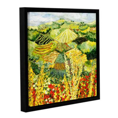 Brushstone Golden Hedge Gallery Wrapped Floater-Framed Canvas