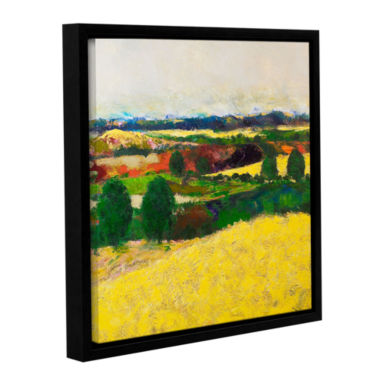 Brushstone Golden Mound Gallery Wrapped Floater-Framed Canvas