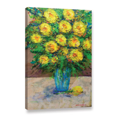 Brushstone Golden Gala Gallery Wrapped Canvas