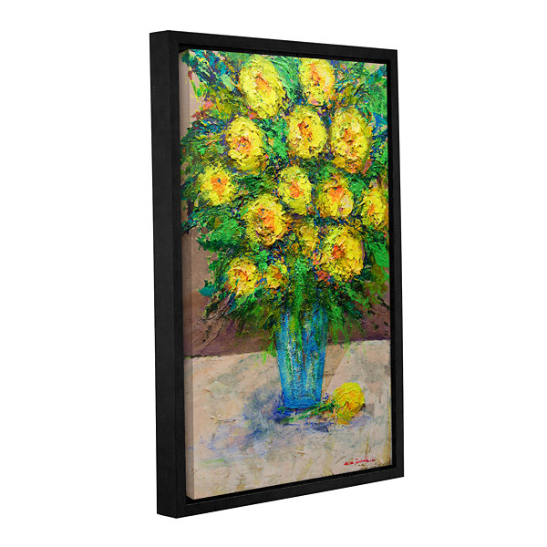Brushstone Golden Gala Gallery Wrapped Floater-Framed Canvas