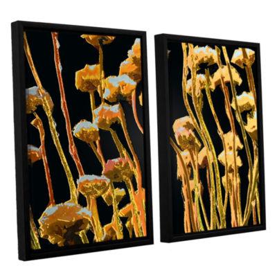 Brushstone Geo Garden Dew 2-pc. Floater Framed Canvas Set