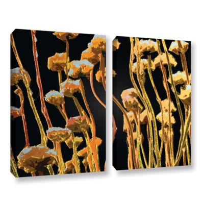 Brushstone Geo Garden Dew 2-pc. Gallery Wrapped Canvas Set