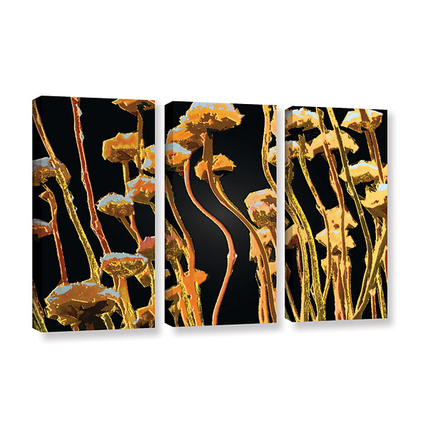 Brushstone Geo Garden Dew 3-pc. Gallery Wrapped Canvas Set