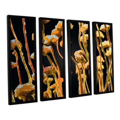Brushstone Geo Garden Dew 4-pc. Floater Framed Canvas Set